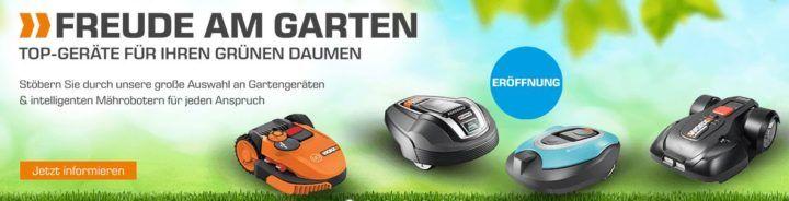 SATURN günstige Garten Geräte Aktion: z.B. WORX WR095 Landroid S300 Mähroboter für 521€ (statt 600€)