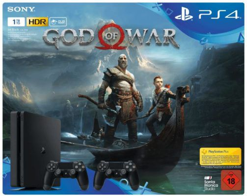 Vorbei! Playstation 4 slim 1TB + 2. Controller + Game God of War ab 278,07€ (statt 357€)