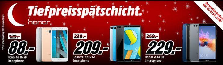 Media Markt Honor Tiefpreisspätschicht   HONOR 7X mit 64 GB für 229€