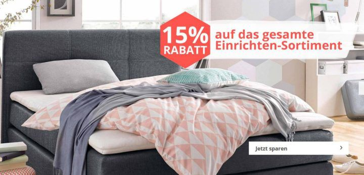 Letzte Möglichkeit! yourhome mit 15% Gutschein auf Einrichten + gratis Lieferung ab 50€ günstige Möbel