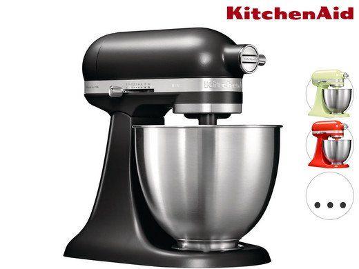 KITCHENAID 5KSM3311X Mini Küchenmaschine mit 3,3L Rührschüssel für 338,90€ (statt 379€)