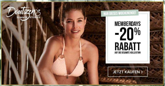 Hunkemöller Memberdays mit 20% auf (fast) alles    günstige BHs, Slips, Nachtwäsche, Bikinis .....