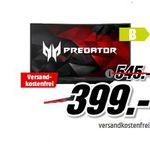Media Markt Acer Tiefpreisspätschicht: z.B. ACER Predator 27 Zoll Full-HD Gaming Monitor für 399€ (statt 519€)