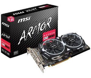 MSI Radeon RX 580 Armor 8GB OC (V341 064R) mit 3 Spieledownloads ab 222,69€ (statt 273€)