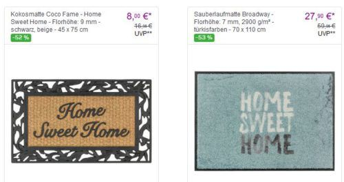 Schöner Wohnen: günstige Teppiche und Fußmatten ab 8€ bei Vente Privee