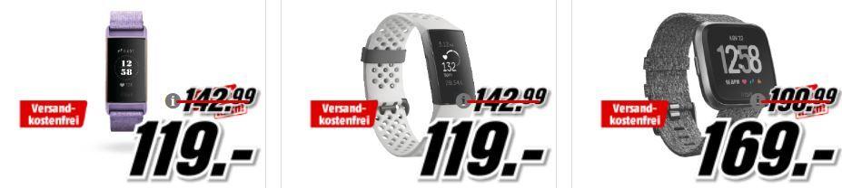 Media Markt Fitbit Tiefpreisspätschicht: günstige Fitness & Actifity Tracker: FITBIT Charge 3 SE Fitnesstracker für 119€ (statt 135€)