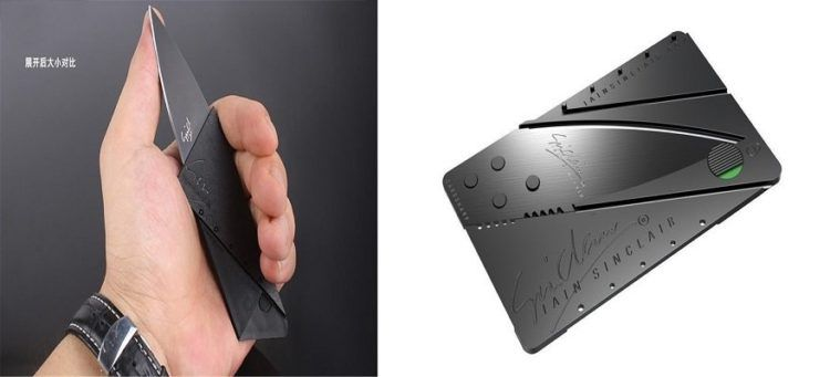 Faltbares Messer im Businesscard Design für 0,59€