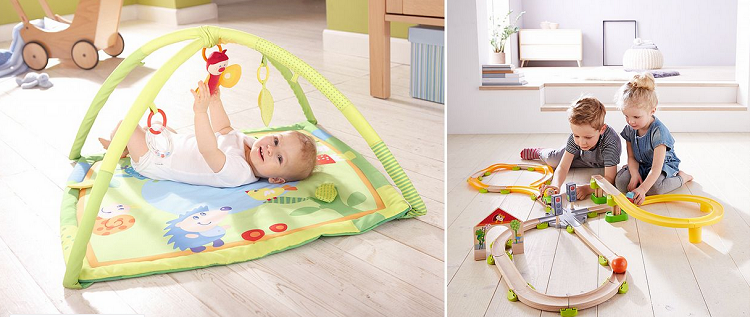 HABA Kinderspielzeug Sale bei Vente Privee – z.B. Spieltrainer Traumstadt ab 55,99€ (statt 94€)