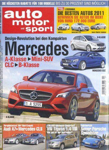 auto motor und sport Jahresabo für 118,30€ + 105€ Verrechnungsscheck + 6€ Sofort Rabatt