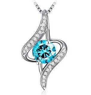 J.Rosée   Halskette Liebe auf ersten Augenblick (925er Silber, Zirkonia) für 6,87€ (statt 15€)