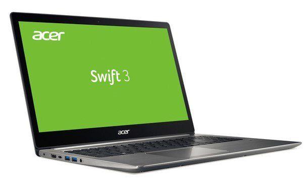 Acer Swift 3 (SF315 41 R6BR)   15 Notebook (Full HD IPS, Radeon RX 540, 8GB DDR4, 256GB SSD) für 799€ (statt 1.049€)