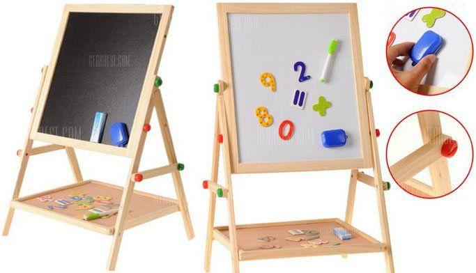 Doppelseitige Holz Magnet Standtafel für 29,89€