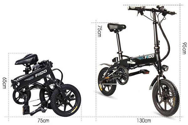 FIIDO D1   E Bike Klapprad mit 7.8Ah Batterie für 378,45€