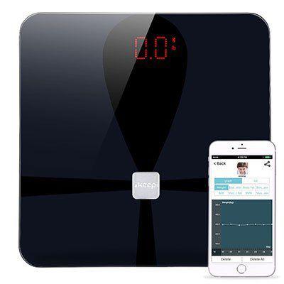 Ikeepi Körperfettwaage mit Bluetooth 4.0 & App Anbindung für Körperanalyse etc für 23,99€ (statt 40€)