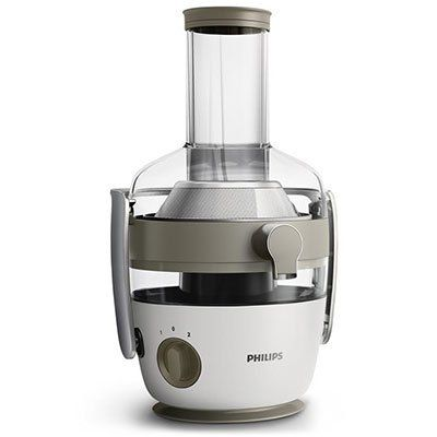 Philips HR1915/80 Entsafter (900 Watt, 2 Geschwindigkeitsstufen, Fruchtfleischbehälter) für 71,99€ (statt 157€)