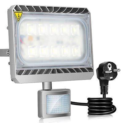 GOSUN 50W LED Außenstrahler mit Bewegungsmelder (CREE SMD5050) – warmweiß für 33,31€ (statt 45€)