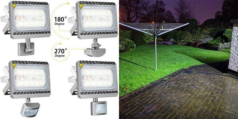 GOSUN   LED Flutlicht mit Bewegungsmelder für 34,99€ (statt 50€)