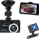 Blusmart – Dashcam mit 3 Zoll Display, 16GB TF Card & Rückkamera für 38,59€ (statt 60€)