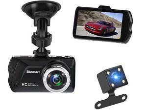 Blusmart Dashcam mit 3 Display, 16GB TF Card & Rückkamera für 18€ (statt 60€)