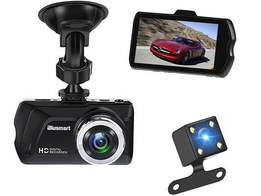 Blusmart   Dashcam mit 3 Zoll Display, 16GB TF Card & Rückkamera für 38,59€ (statt 60€)