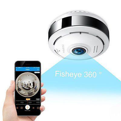 FREDI FREC6   IP Kamera mit 180° Weitwinkel & vielen Funktionen für 29,99€ (statt 50€)