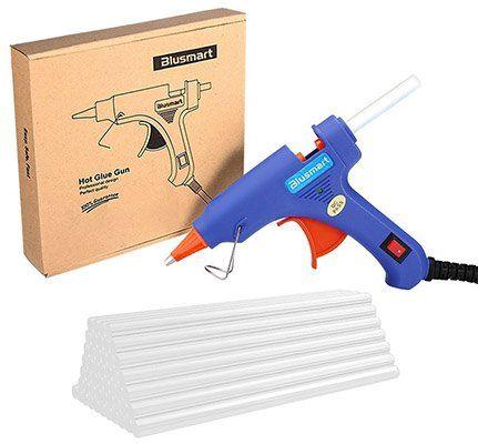 Blusmart GGC00030   Mini Klebepistole mit 30 Klebesticks für 5,59€ (statt 8€)