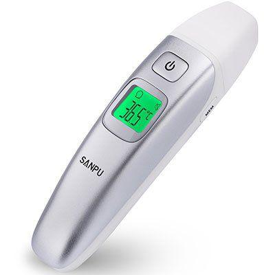 SANPU   digitales Infrarot Thermometer für Stirn, Ohr & Objekte für 15,99€