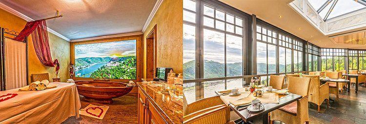 2 ÜN im Schlosshotel (Mittelrheintal) inkl. Halbpension, Sekt  & Rosenarrangement & Wellnessnutzung für 210€ p.P.
