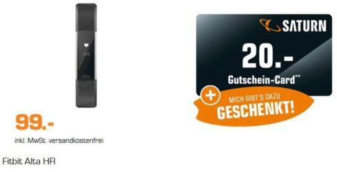 FITBIT ALTA HR   Fitnesstracker für 99€ (statt 114€) + 20€ Gutschein