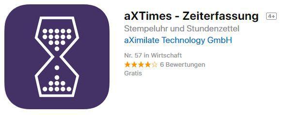 aXTimes   Zeiterfassung (iOS) gratis statt 3,49€