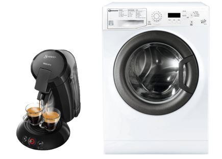 BAUKNECHT FWM 7F4  7 kg Waschmaschine + SENSEO Padmaschine PHILIPS HD6555 für 333€ (statt 514€)