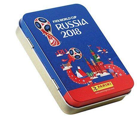 Vorbei! 20er Pack Panini WM 2018 Sticker Tüten in Metalldose für 4,99€(statt 15€)   Plus Produkt