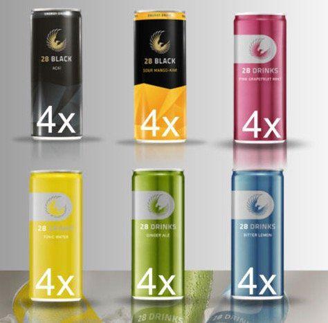 24er Pack 28 Black Energy Drink Mix mit mehreren Sorten für 23,40€ (statt 36€)