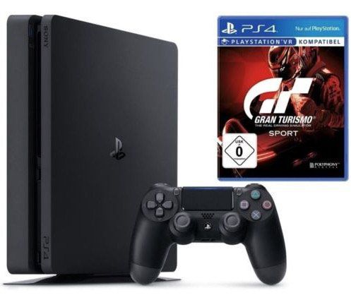 Sony Playstation 4 Slim 1TB inkl. Gran Turismo Sport für 285€ (statt 307€)
