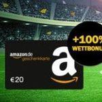 10€ bwin Wetteinsatz + 20€ Amazon Gutschein* geschenkt + 10€ Joker-Wette (Geld zurück bei falschem Tipp)