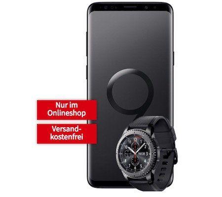 Knaller? Samsung Galaxy S9 Plus + Galaxy Gear S3 Smartwatch für 49€ + Vodafone Flat mit 8GB für 36,99€ mtl.
