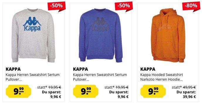 Kappa Sweatshirts ab je 9,99€ (statt 17€)
