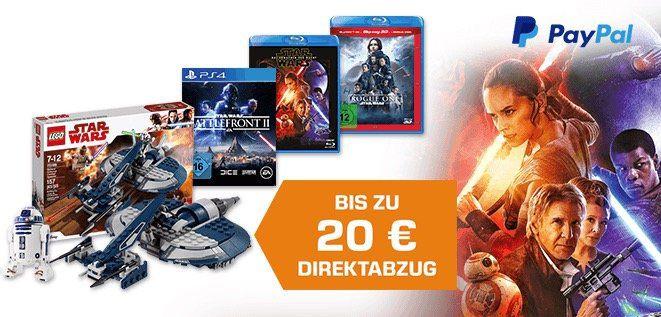 Star Wars Tag bei Saturn + bis zu 20€ Extra Rabatt dank Paypal   z.B. Star Wars Battlefront II (PS4) nur 19,99€ (statt 28€)