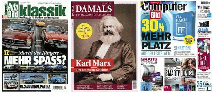 Geschenkidee zum Vatertag: Zeitschriften Abos mit krassen Prämien
