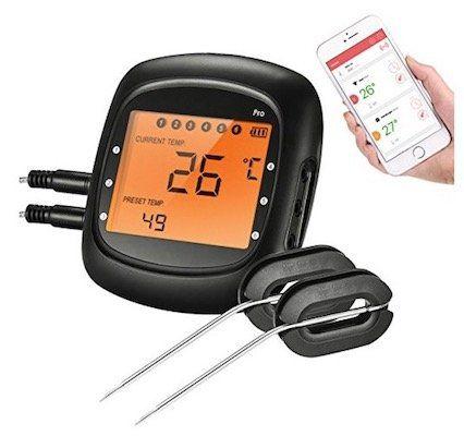 Topelek Grillthermometer mit Bluetooth für 21,99€ (statt 30€)