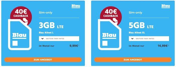 o2 Allnet  & SMS Flat + 3GB LTE Daten für 8,32€ mtl. dank Cashback oder 5GB für 13,32€ mtl.