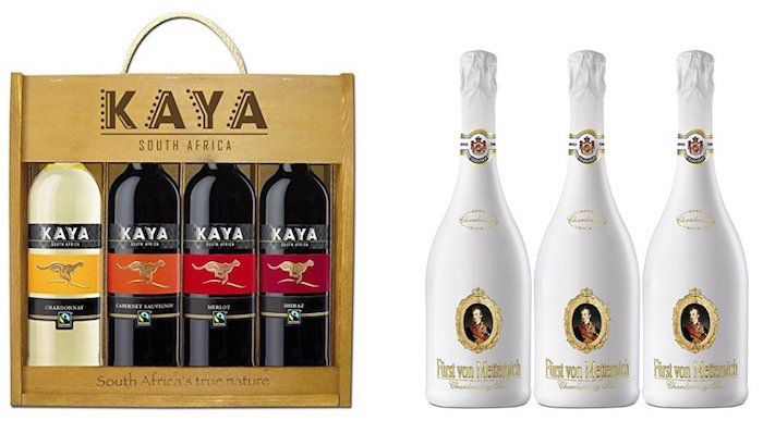 Günstiger Wein und Champagner bei Amazon   z.B. 3er Pack Fürst von Metternich Chardonnay Sekt ab 20,37€ (statt 27€)