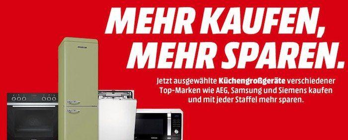 Media Markt: Küchengroßgeräte mit bis zu 500€ Sofort Rabatt