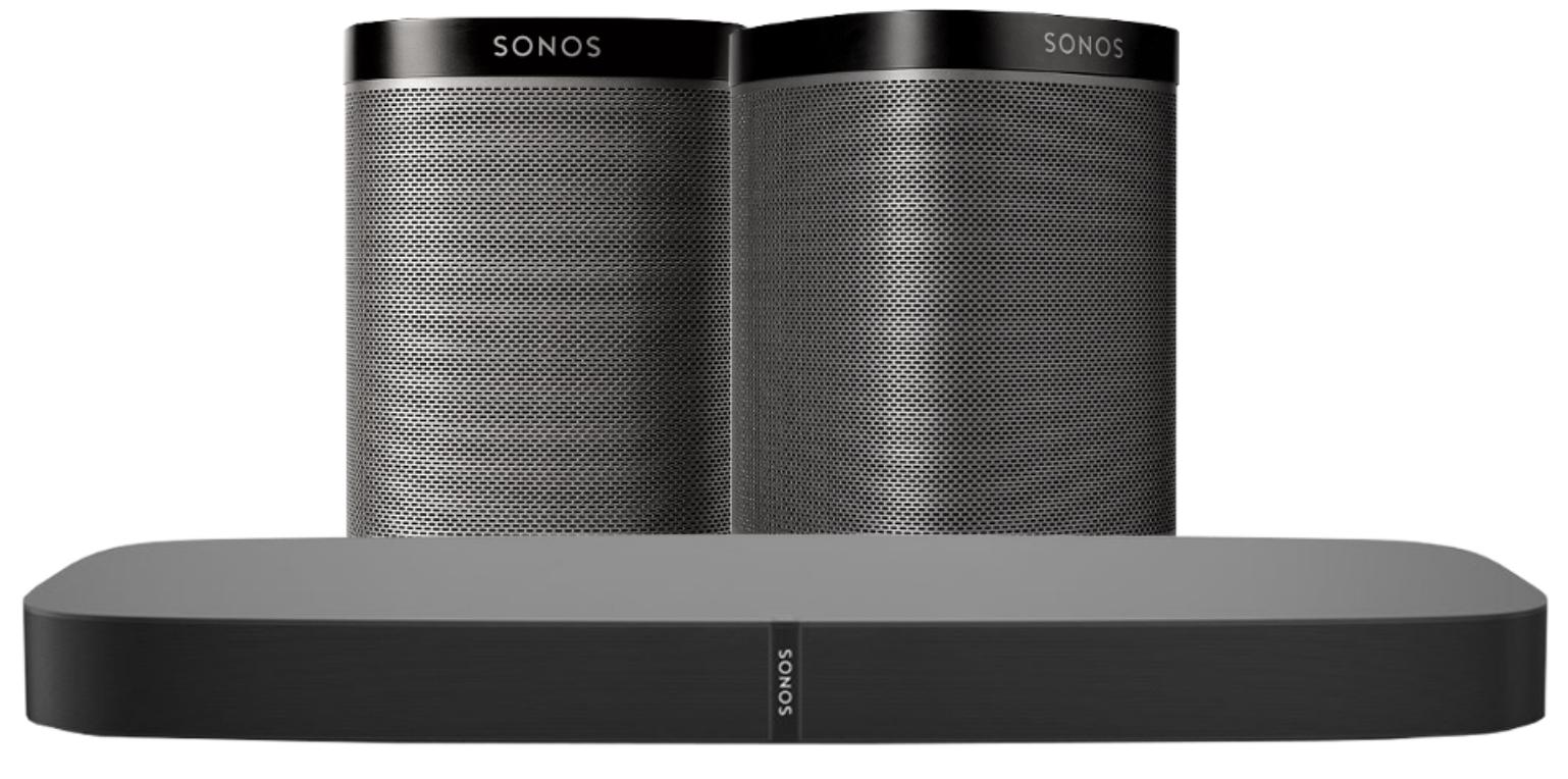 Sonos Playbase Bundle: Wireless Soundbase + 2x Sonos Play:1 Lautsprecher 949€ statt 1099€