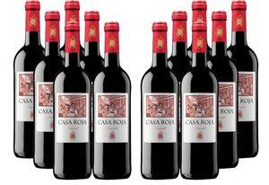 12 Flaschen Casa Roja goldprämierter Tempranillo Rotwein für 39,96€