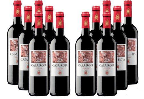 12 Flaschen Casa Roja mehrfach prämierter Tempranillo Rotwein für 45€