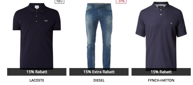 Knaller! Peek & Cloppenburg* Sale + 15% Extra Rabatt