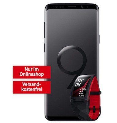 Samsung Galaxy S9 + Gear Fit 2 Pro für 49€ + Vodafone Comfort Flat mit 2GB für 26,99€ mtl.