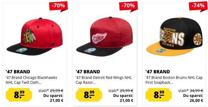47 Brand Snapbacks ab 7,99€ + heute keine VSK!