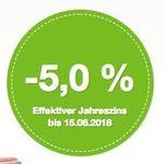 KNALLER! Smava Kredit über 1.000€ und nur 947,52€ zurückzahlen dank -5% Jahreszins!